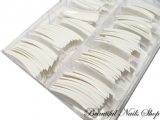 White french false nail tips - half well / short contact area 100pcs